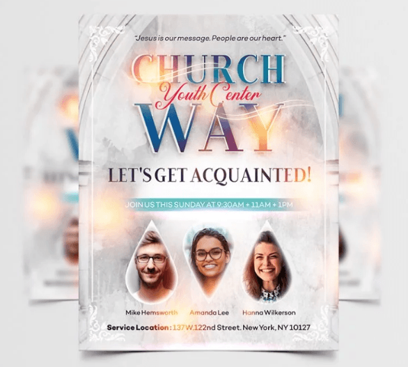 Church Event PSD Free Flyer Template