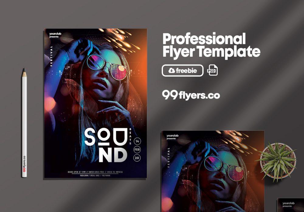 Club Night PSD Free Flyer Template