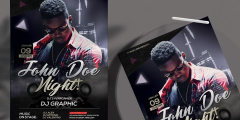 Club Night Party - Free PSD Flyers Template