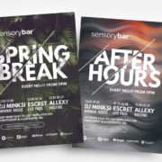 Club & Spring Free PSD Flyer Template