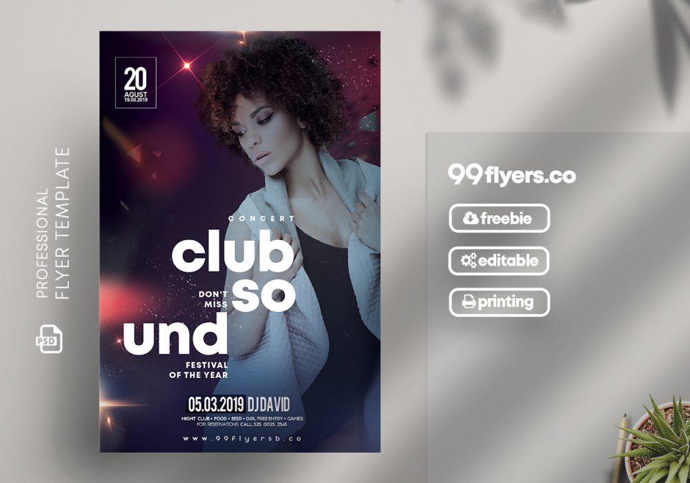 Club Vibe Free PSD Flyer