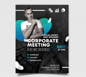 Corporate Meeting PSD Free Flyer Template