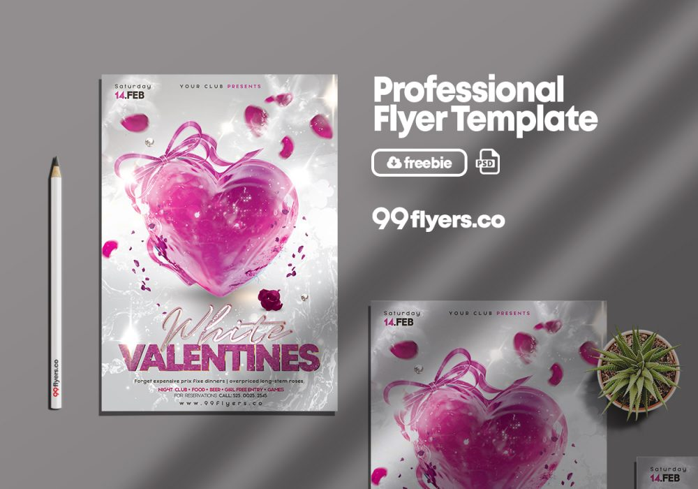Creative Valentine's Day PSD Free Flyer Template