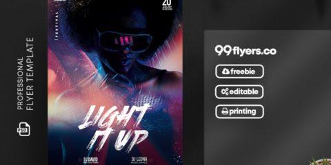 DJ Artist Free PSD Flyer Template