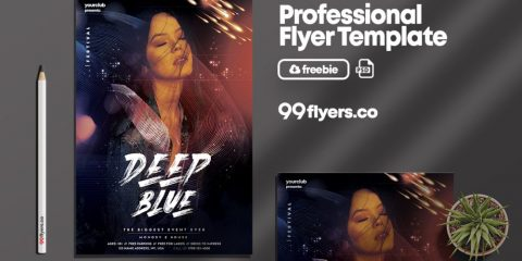 DJ House Party Freebie PSD Flyer Template