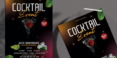 Drink Night - Free Party PSD Flyer Template