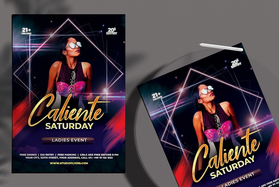 EDM Club Party PSD Free Flyer Template