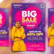 Fashion Big Sale Free PSD Flyer Template