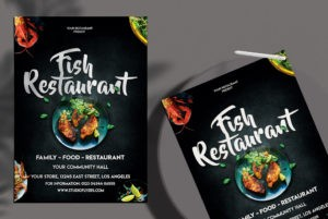 Fish Restaurant Ad Free PSD Flyer Template