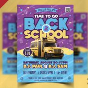 Free Back to School Event Flyer