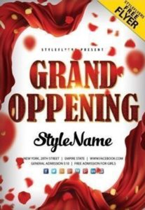 Free Grand Opening PSD Flyer Template