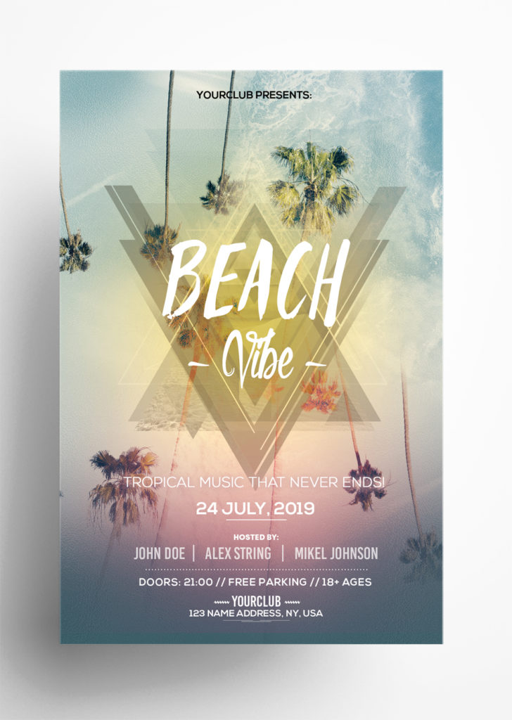 Free Summer Vibe PSD Flyer Template