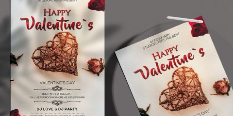 Free Valentines Day Flyer in PSD