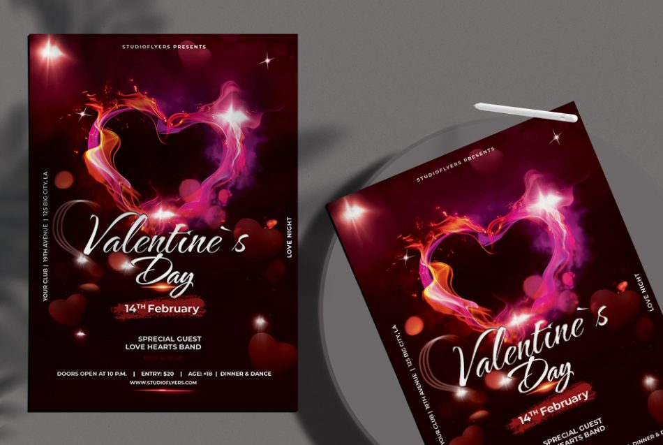 Free Valentines Day PSD Flyer Template