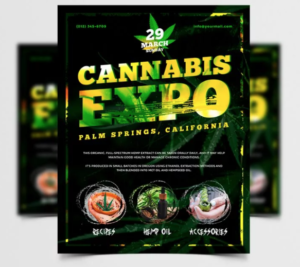 Freebie Cannabis Expo - PSD Flyer Template