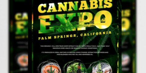 Freebie Cannabis Expo - PSD Flyer Template
