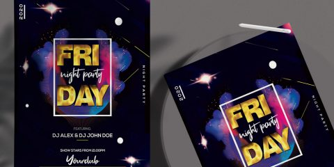 Friday Vibes Free PSD Flyer Template