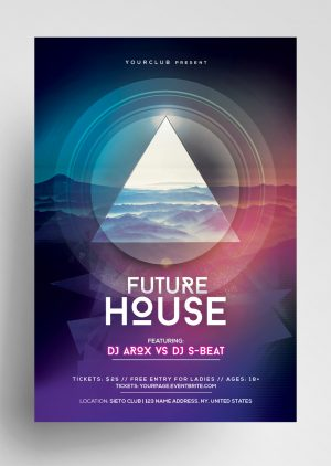 Future House Geometric PSD Free Flyer