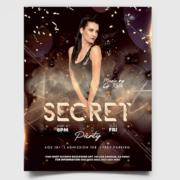 Glamour Night Freebie PSD Flyer Template
