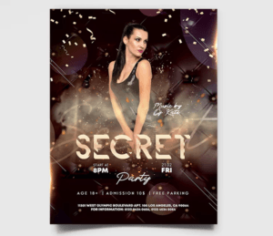 Glamour Night Freebie PSD Flyer Template