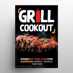 Grill Cookout Free BBQ Flyer Template