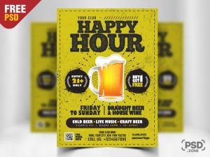 Happy Hour Freebie PSD Flyer Template