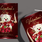 Happy Valentine's - Free Elegant PSD Flyer Template