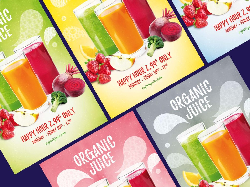 Juice Drink Ad - Free PSD Flyer Template