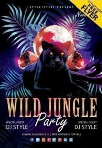Jungle Party Flyer in PSD for Free
