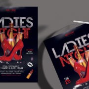 Ladies Night Vibe PSD Free Flyer PSD Template