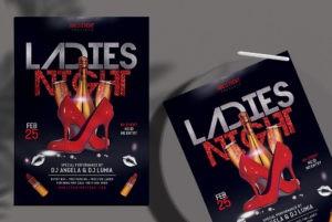 Ladies Night Vibe PSD Free Flyer PSD Template