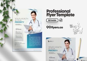 Medical Hospital Free PSD Flyer Template