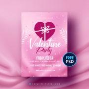 Minimal Valentines Free PSD Flyer
