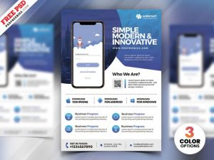 Mobile App Ad – Free PSD Flyer Template