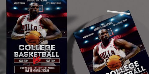 NBA Match Free PSD Flyer Ad Template