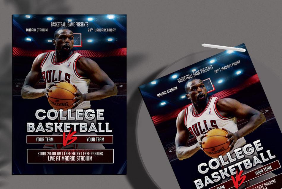 NBA Match Free PSD Flyer Ad Template