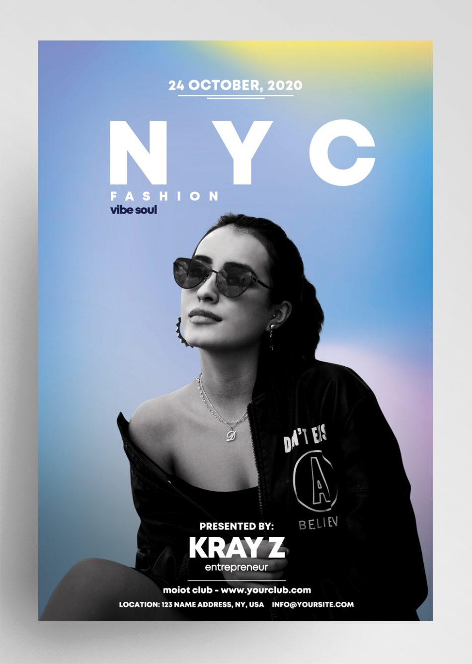 NYC Fashion Freebie PSD Flyer Template
