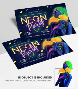Neon ClubNight - Free PSD Flyer Template