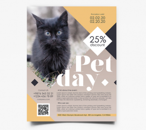 Pet Ad Freebie PSD Flyer Template