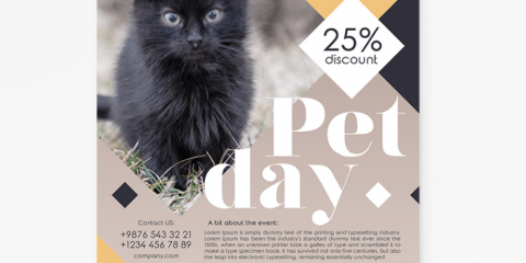 Pet Ad Freebie PSD Flyer Template