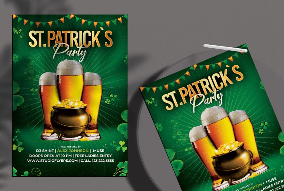 Saint Patrick`s Day Free PSD Flyer Template
