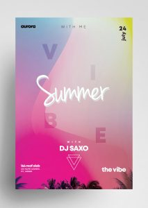 Summer – Free Vibrant Color PSD Flyer