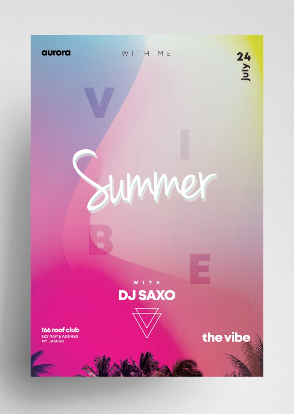 Summer - Free Vibrant Color PSD Flyer