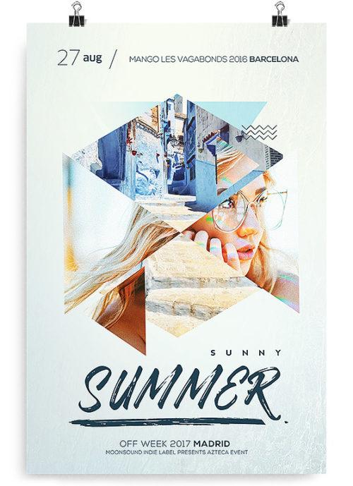 Summer Party DJ Free PSD Flyer Template