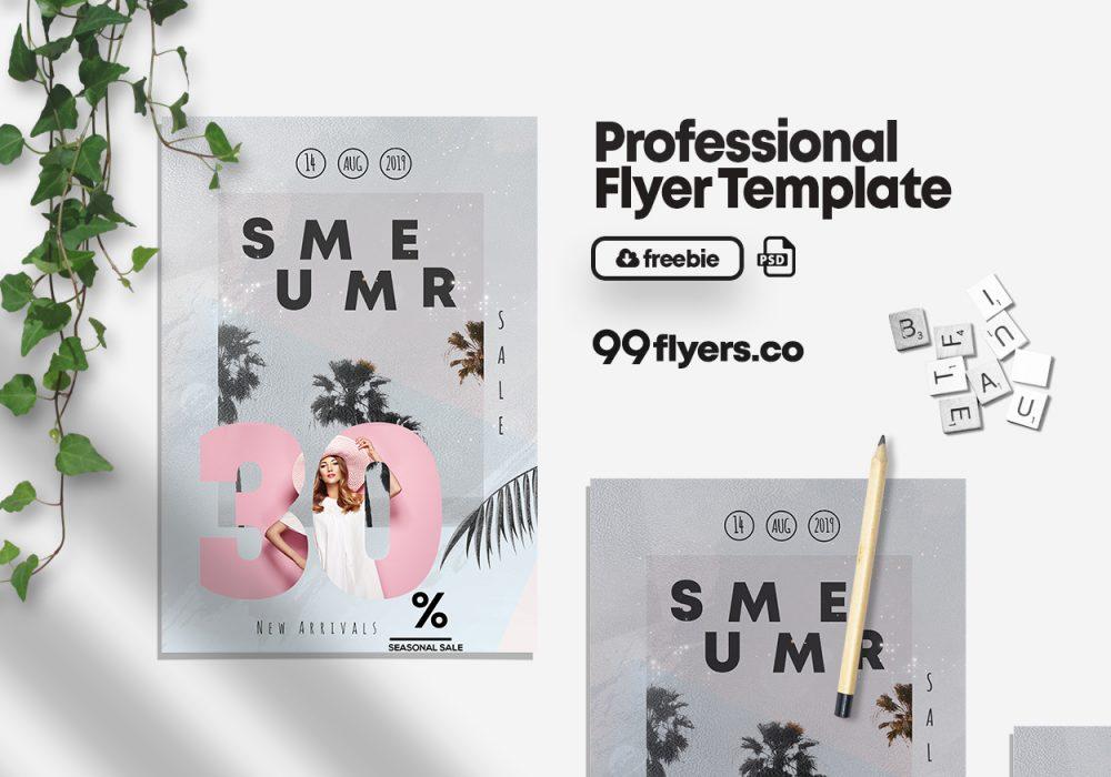 Summer Sale - Free PSD Flyer Template