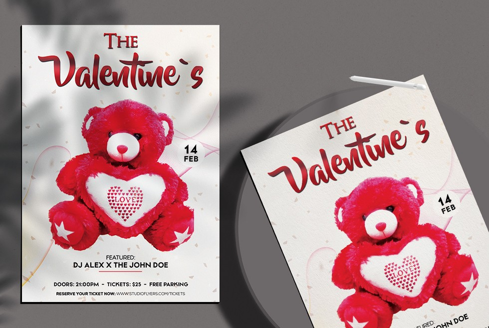 The Valentine's Bash Free PSD Flyer Template