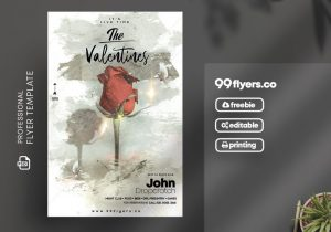 The Valentine's Day Free PSD Flyer Template