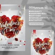 Valentine's Affair - Free Elegant PSD Flyer