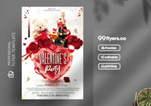 Valentines Love Party – Free PSD Flyer Template