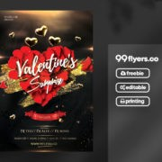 Vibe Valentine's Day Free PSD Flyer Template